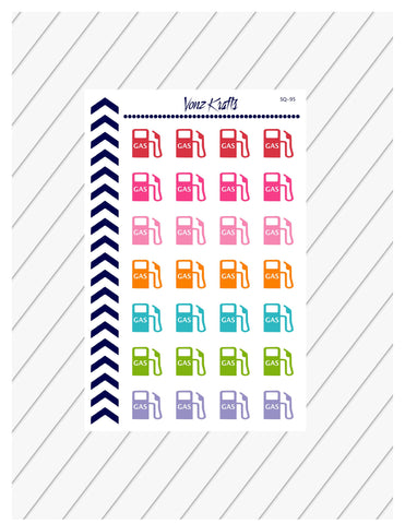 Gasoline Planner Stickers, Gas Pump Stickers, Fuel Gas Planner Stickers, Gasoline Pum Fill Up, Fuel Stickers, Gas Stickers