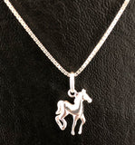 Horse Necklace, Sterling Silver Horse Necklace, Horse Lover Jewelry, Horse Jewelry, Tiny Horse Necklace, Horse Jewelry 925, Animal Necklace