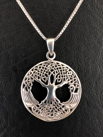 Tree Of Life Necklace, Sterling Silver Tree Necklace, Layering Boho Necklace, Tree Of Life Pendant, Family Tree Necklace, Gift For Mom