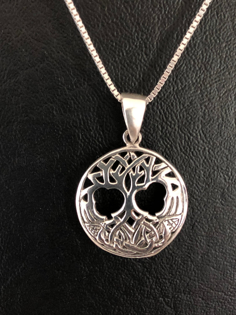 Tree Of Life Necklace, Sterling Silver Tree of Life Necklace, Layering Boho Necklace, Tree Of Life Pendant, Family Tree Necklace, Mom Gift