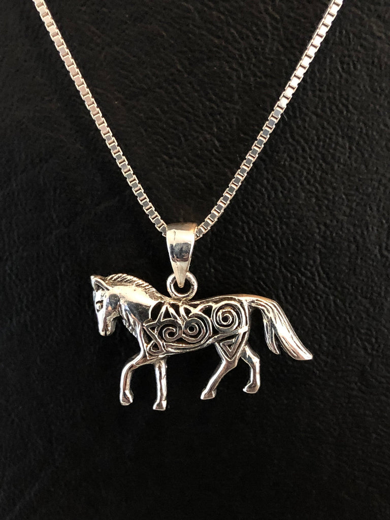 Horse Necklace, Sterling Silver Filigree Horse Necklace, Horse Jewelry for Girl, Equestrian Necklace, Horse Lover Jewelry, Horseback Riding