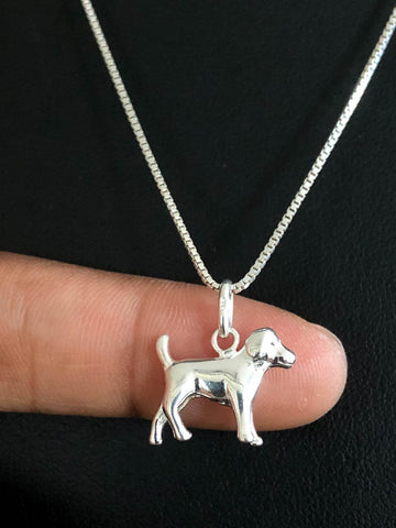 Tiny Dog Necklace, Sterling Silver Pet Necklace, Tiny Dog Necklace, Animal Jewelry, Dog Lovers Jewelry, Dog Charm Pendant, Gift For Daughter