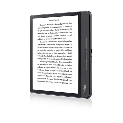Kobo Forma front positioned in portrait