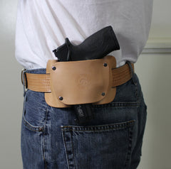 Gun belt for OWB holster by concealed carry wear