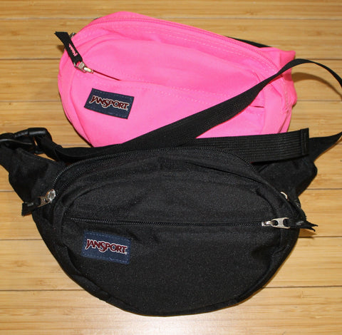 waist pack holster pouch by jansport pink and black