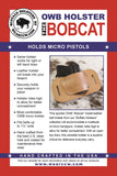 "OWB Holster ""The Bobcat"" Model for Micro Pistols - Concealed Carry Wear  - 3"
