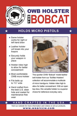 LCP Holster | Bodyguard 380 Holster | Made in USA | OWB $22 95
