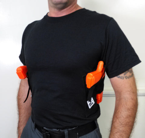 Dual Gun Holster Shirt - Concealed Carry Wear  - 1