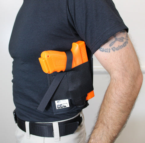 Shirt holster for gun with light