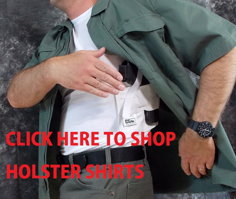 Holster shirt by concealed Carry Wear banner
