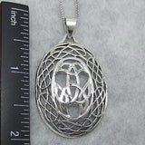 Extra Large Celtic Knot Pendant Necklace - Sterling Silver - M66297