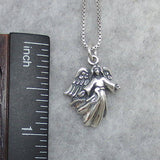 Angel Pendant Necklace Sterling Silver - P7724