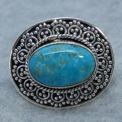 Size 7-1/2 - Arizona Turquoise Ring - Sterling Silver - Rtq02