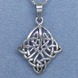 Celtic Knot Sterling Silver Pendant Necklace - M6792