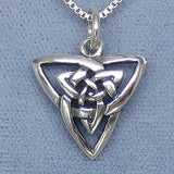 Small Celtic Trinity Knot Pendant Necklace - Sterling Silver - M856