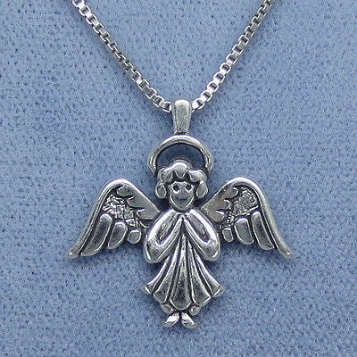 Angel Pendant Necklace Sterling Silver - P7721