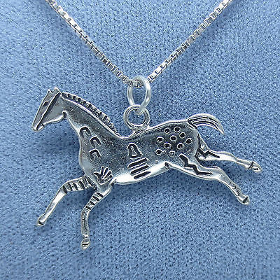 Appaloosa Horse Necklace -  Sterling Silver - Western - W213
