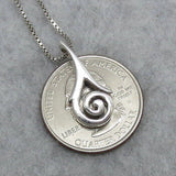 Celtic Sun Spiral Pendant Necklace - Sterling Silver - P52341