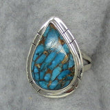 Size 7 - Mojave Blue Copper Turquoise Ring - Sterling Silver - R360998