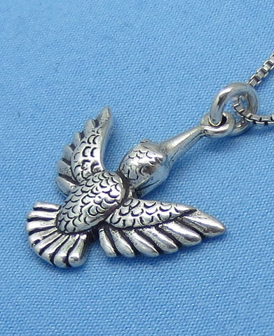 Sterling Silver Hummingbird Necklace -- p150630