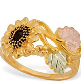 Sizes 4 - 9 Mt. Rushmore Black Hills Gold Sunflower Ring - 10K and 12K Solid Gold - Made to Order - G 10078