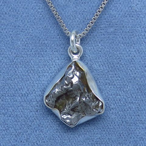 Genuine Meteorite Campo del Cielo Necklace #6 - Sterling Silver - m160767-6