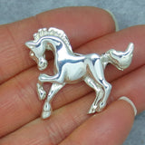 Vintage Sterling Silver Horse Brooch Pin - P8172