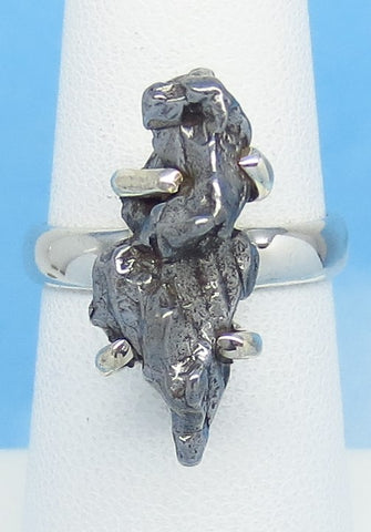 Size 6-1/4 Meteorite Ring - Campo del Cielo - Argentina - Sterling Silver - Genuine Natural Real - Celestial - Iron Meteorite - 16-02