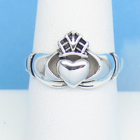 Size 11 - 925 Sterling Silver Claddagh Ring - Irish Celtic Heart Crown Hands Ring - jn251107 - Claddagh Ring #3