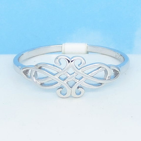 Size 12 Ladies' Lightweight Celtic Knot Ring - 925 Sterling Silver - 200585-12