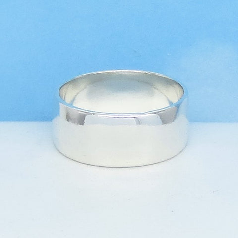 Size 12 - 8mm 925 Sterling Silver Band Ring - Thumb Ring - Handmade USA - 070999-12