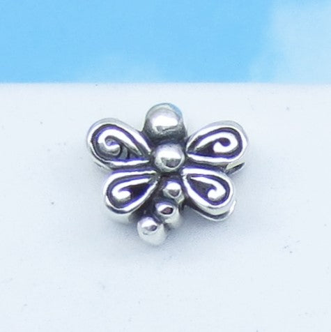 Dragonfly 925 Sterling Silver European Charm Bead Fits Pandora Bracelets Euro Charm - Hypoallergenic - c281001