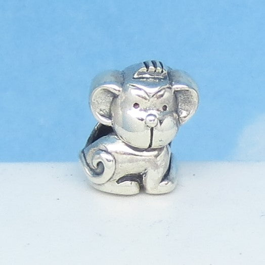 Monkey 925 Sterling Silver European Charm Bead Fits Pandora Bracelets - Euro Charm - Not Threaded - Cute Charms - Ships from USA - 280706m