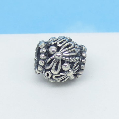 Dragonfly Filigree European Charm Bead .925 Sterling Silver - Fits Pandora Bracelets Euro Charm - Gardener Charm - Spacer - Firefly - 160533