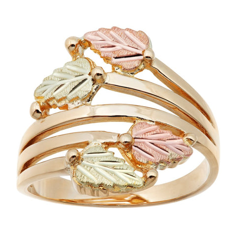 Sizes 3 - 13 Mt Rushmore Black Hills Gold Golden Vines Ring - 10K and 12K Yellow, Rose and Green Gold - Made to Order - G 1685