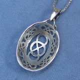 Infinity Symbol Celtic Knot Pendant Necklace - Sterling Silver - C57t
