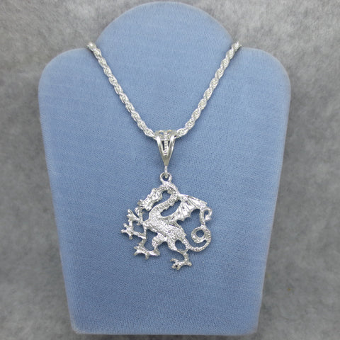 "Dragon Necklace 22"" Sterling Silver"