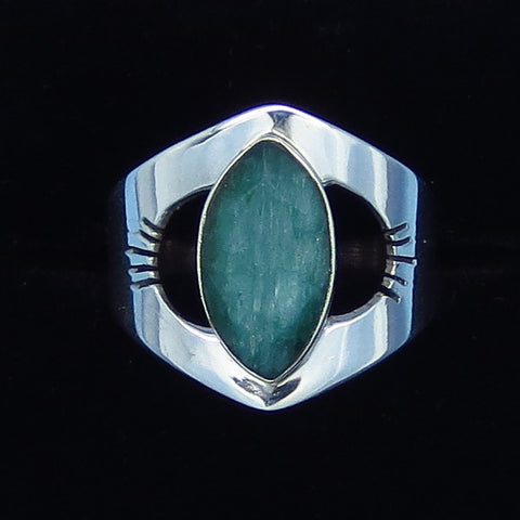 1.8ct Size 6 1/2 Genuine Emerald Ring - Sterling Silver - Marquise - Natural Raw Emerald - sa151809