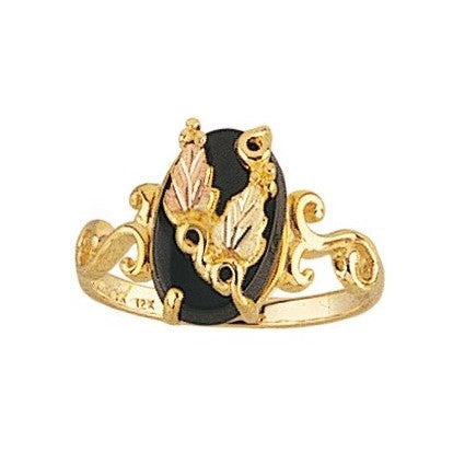 Sizes 4 - 9 Mt. Rushmore Black Hills Gold Upwards Onyx Ring - 10K and 12K Solid Gold - Made to Order - G 1292OX