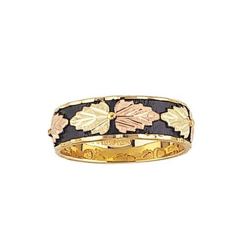 Sizes 4 - 9 Mt. Rushmore Black Hills Gold Antiqued Classic Ring - 10K and 12K Solid Gold - Made to Order -  G 1305ANT