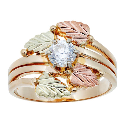 Sizes 4 - 13 Mt. Rushmore Black Hills Gold Golden Vines Diamond Ring - 10K and 12K solid gold - Made To order - G 1685D33