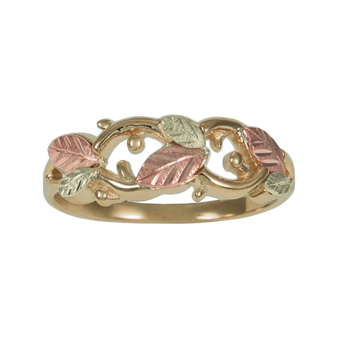 Sizes 4 - 10 TRJ Black Hills Gold Twisting Vines Ring - 10K and 12K Solid Gold - Made to Order -  G C41024