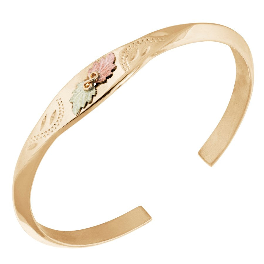 Landstrom's Black Hills Gold Golden Bangle Bracelet - 10k and 12k Solid Gold - Made To Order - G LBR506-10K