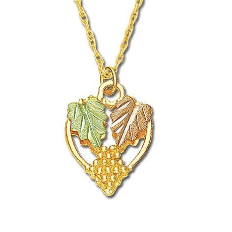 Landstrom's Black Hills Gold Joyful Heart Necklace - 10K and 12K Solid Gold - Made To Order - G LE326N