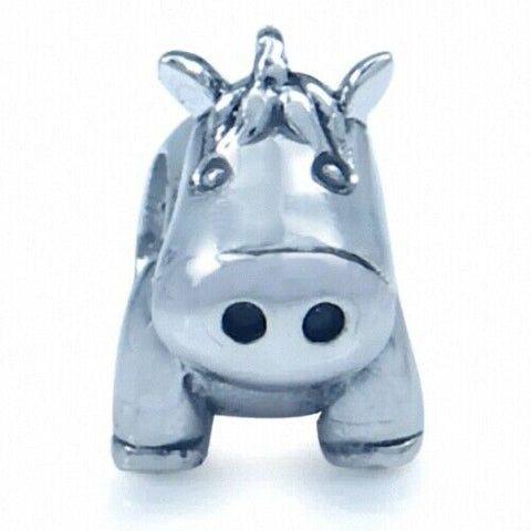 Horse Pony 925 Sterling Silver European Charm Bead Fits Pandora Bracelets - Euro Charm - Not Threaded - Cute Charms - Ships from USA 280646h