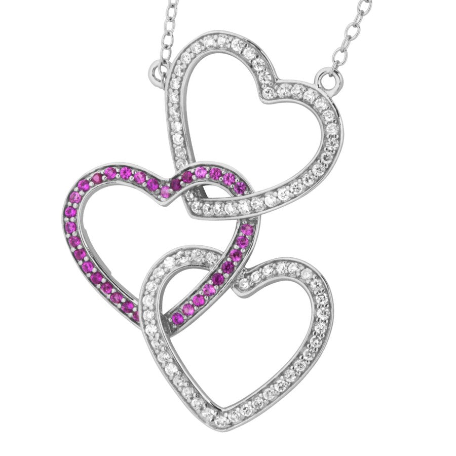 Silver Elegance Entwinded Hearts Necklace - Sterling Silver - Made to Order -  SESP649