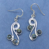 Labradorite Swirl Dangle Earrings - Sterling Silver - 181099