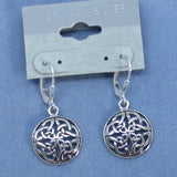 Celtic Trinity Knot Leverback Earrings - Sterling Silver -- 250958