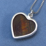 Tiger Eye Heart Necklace - Sterling Silver - TE180816