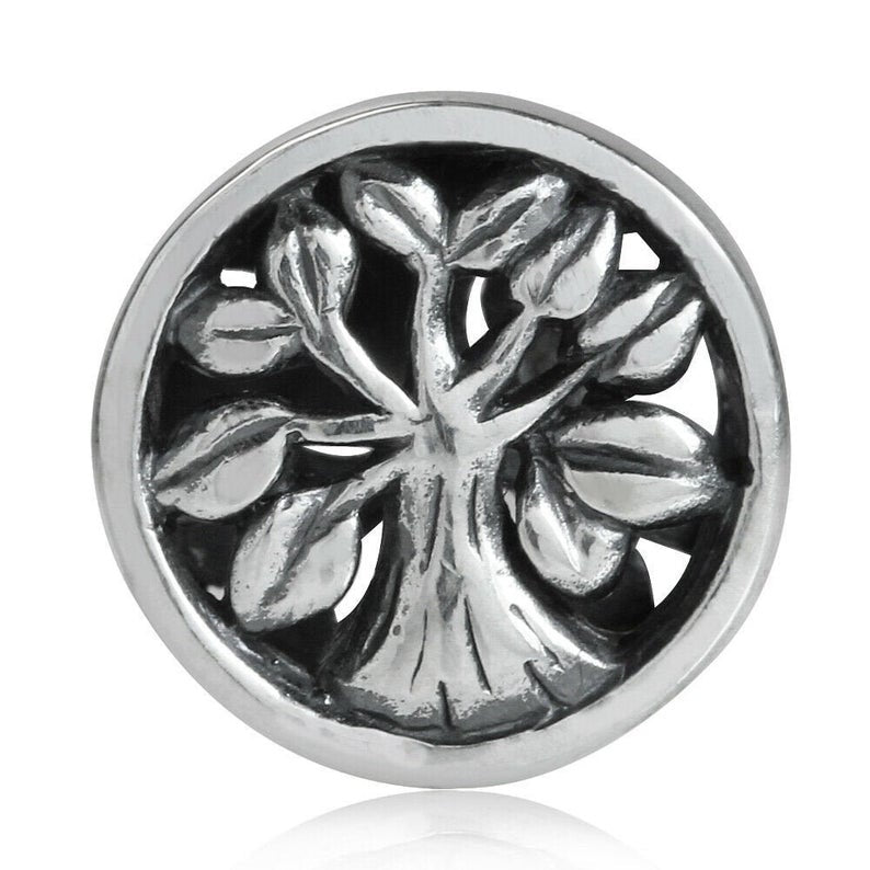 2-Sided Tree of Life 925 Sterling Silver Hypoallergenic Charm Bead Pendent Fits Pandora Bracelets - Euro Charm - Not Threaded - Celtic